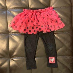 2/$15 Disney Minnie Mouse tutu leggings